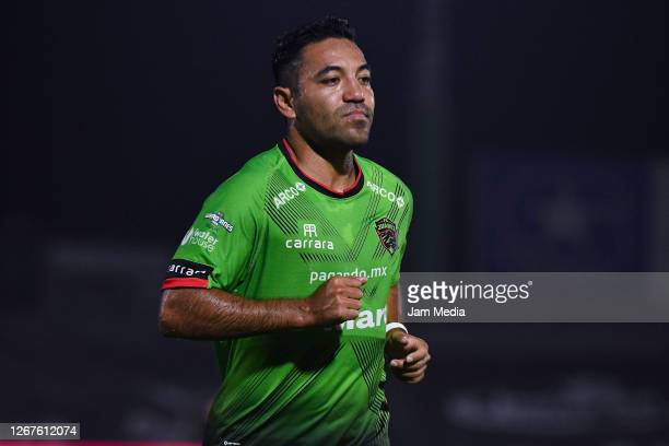 Marco Fabian of Juarez looks on during the 6th round match between FC Juarez and Leon as part of the Torneo Guard1anes 2020 Liga MX at Olimpico...