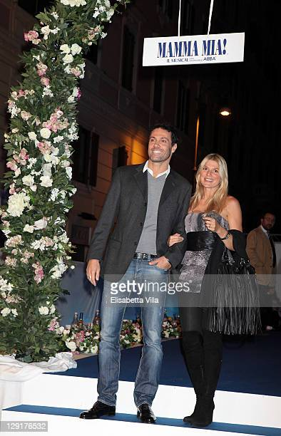 Marco Falaguasta and Alessia Latino attend 'Mamma Mia' Rome Launch at Teatro Brancaccio on October 13 2011 in Rome Italy