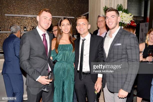 Marco Fantaroni Hayley Loft John Roth and Jonathan Goldman attend Magrino PR 25th Anniversary at Bar SixtyFive at Rainbow Room on July 25 2017 in New...