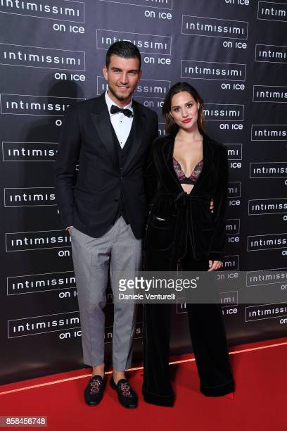 Marco Fantini and Beatrice Valli attend Intimissimi On ice 2017 on October 6 2017 in Verona Italy