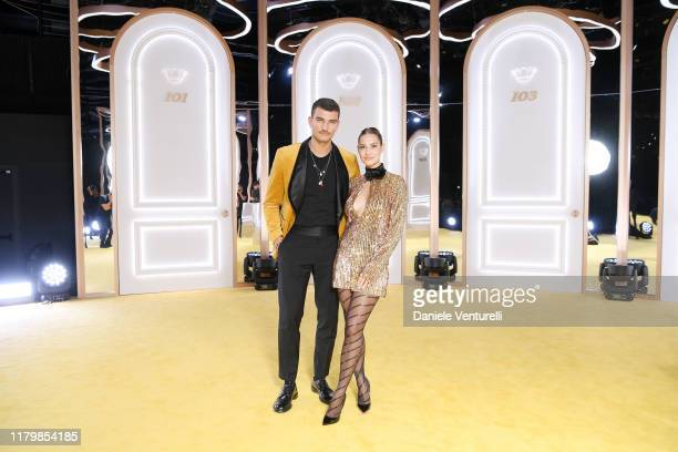 Marco Fantini and Beatrice Valli attend the Calzedonia Leg Show 2019 on October 08 2019 in Verona Italy