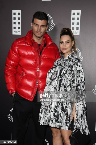 Marco Fantini and Beatrice Valli attend the Moncler fashion show on February 19 2020 in Milan Italy