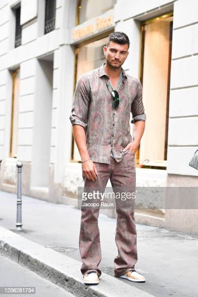 Marco Fantini is seen arriving at the Four Season Hotel ahead of the Etro Fashion Show on July 15 2020 in Milan Italy