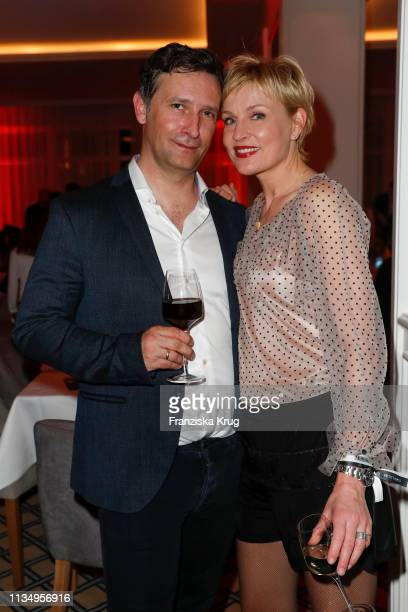 Marco Fischer and Sanna Englund during the Baltic Lights gala night event on March 9 2019 in Heringsdorf Germany The annual charity event hosted by...