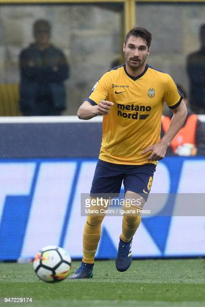 Marco Fossati of Hellas Verona FC in action during the serie A match between Bologna FC and Hellas Verona FC at Stadio Renato Dall'Ara on April 15...