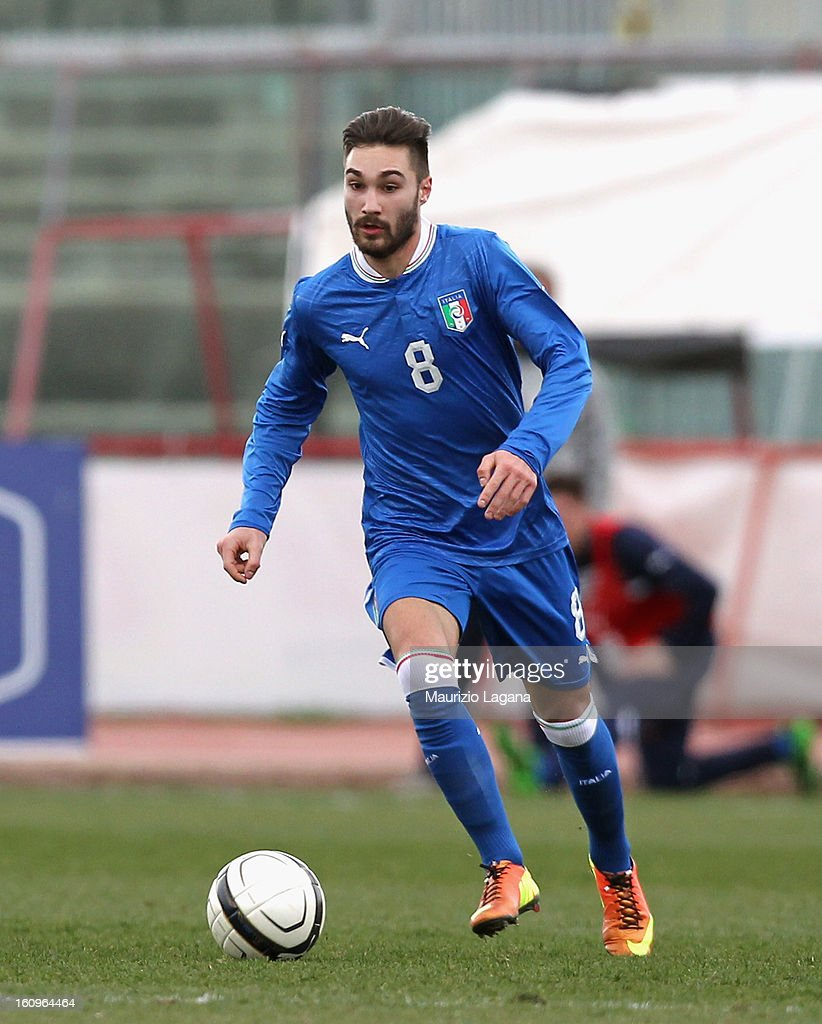 Marco Fossati of Italy during U20 International Friendly match between Italy and Germany at Stadio Cosimo Puttilli on February 6, 2013 in Barletta, Italy.