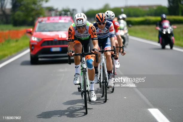 Marco Frapporti of Italy and Team Androni Giocattoli - Sidermec / Mirco Maestri of Italy and Team Bardiani CSF / Damiano Cima of Italy and Team Nippo...