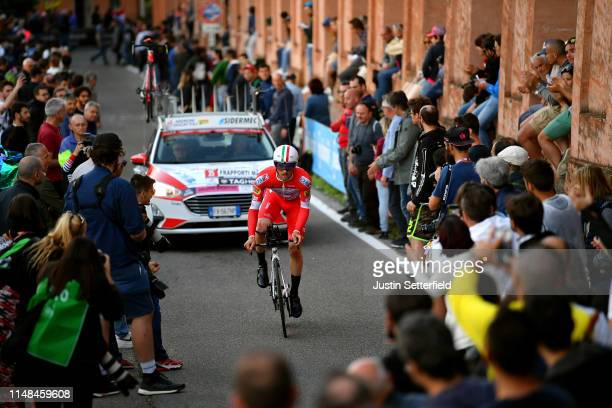 Marco Frapporti of Italy and Team Androni Giocattoli Sidermec / Public / Fans / Landscape / during the 102nd Giro d'Italia 2019 Stage 1 a 8km...