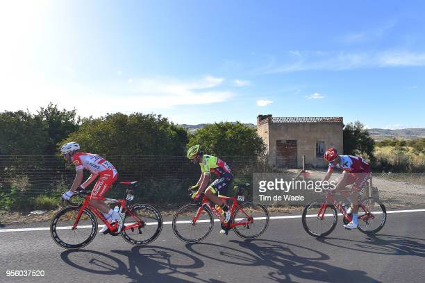 Marco Frapporti of Italy and Team Androni Giocattoli-Sidermec / Jacopo Mosca of Italy and Team Wilier Triestina-Selle Italia / Maxim Belkov of Rusia...