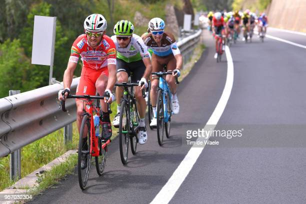 Marco Frapporti of Italy and Team Androni GiocattoliSidermec / Jacques Janse Van Rensburg of South Africa and Team Dimension Data / during the 101th...