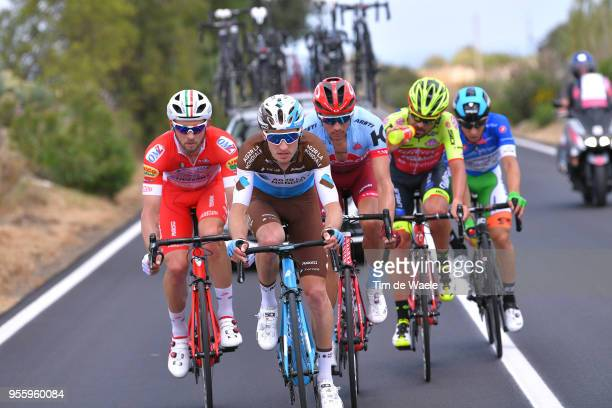 Marco Frapporti of Italy and Team Androni Giocattoli-Sidermec / Quentin Jauregui of France and Team AG2R La Mondiale / Maxim Belkov of Rusia and Team...