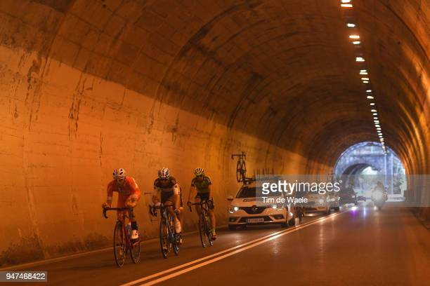 Marco Frapporti of Italy and Team Androni Sidermec Bottecchia / Quentin Jauregui of France and Team AG2R La Mondiale / Oscar Rodriguez of Spain / and...