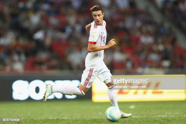 Marco Friedl of Bayern Muenchen runs with the ball during the International Champions Cup 2017 match between Bayern Muenchen and Inter Milan at...