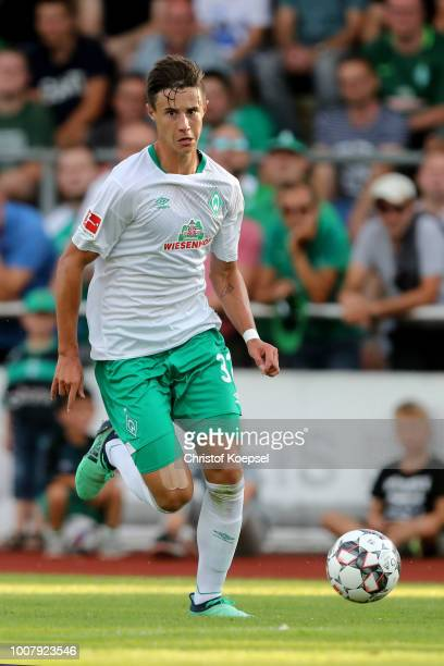 Marco Friedl of Bremen runs with the ball during the Pre Season Friendly Match between VVV Venlo and Werder Bremen at HeinzDettmerStadion Lohne on...