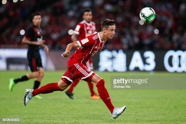 Marco Friedl of FC Bayern during the 2017 International Champions Cup China match between FC Bayern and AC Milan at Universiade Sports Centre Stadium...