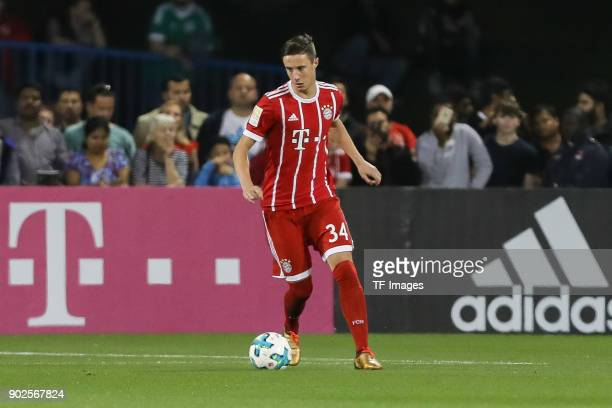 Marco Friedl of Muenchen controls the ball during the Friendly match between AlAhli and Bayern Muenchen at Aspire Academy on January 06 2018 in Doha...