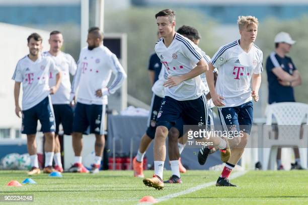 Marco Friedl of Muenchen in action during the FC Bayern Muenchen training camp at Aspire Academy on January 05 2018 in Doha Qatar