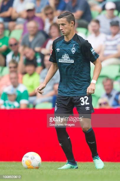 Marco Friedl of Werder Bremen during the Club Friendly match between FC Groningen v Werder Bremen at the NoordLease Stadium on July 29 2018 in...