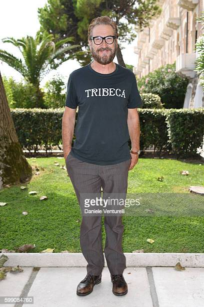 Marco Giallini poses after the Kineo Diamanti Award press conference during the 73rd Venice Film Festival at on September 4 2016 in Venice Italy