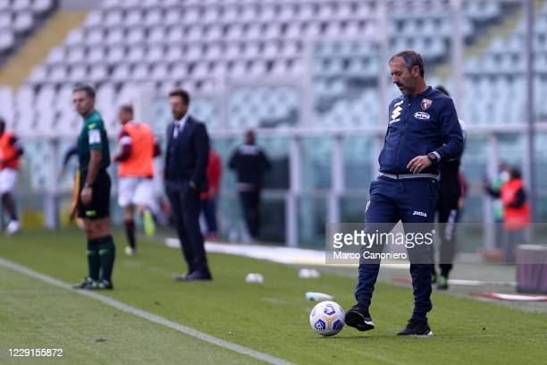 Marco Giampaolo head coach of Torino FC during the Serie A match between Torino Fc and Cagliari Calcio Cagliari Calcio wins 32 over Torino Fc
