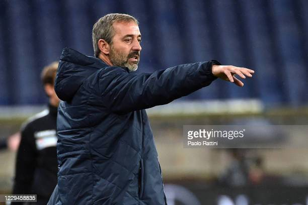Marco Giampaolo head coach of Torino FC gestures during the Serie A match between Genoa CFC and Torino FC at Stadio Luigi Ferraris on November 4,...