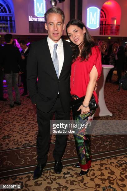 """Marco Girnth and his wife Katja Woywood during the Movie Meets Media """"MMM"""" event on the occasion of the 68th Berlinale International Film Festival at..."""