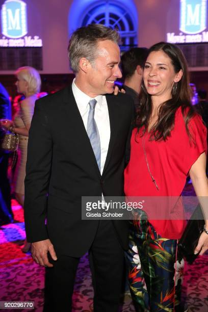 Marco Girnth and his wife Katja Woywood during the Movie Meets Media 'MMM' event on the occasion of the 68th Berlinale International Film Festival at...