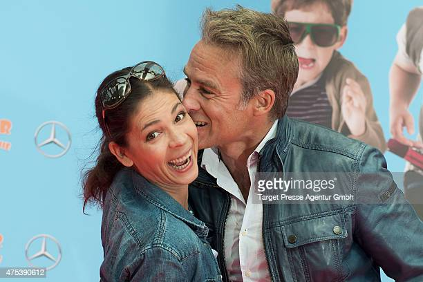 Marco Girnth and Katja Woywood attend the Berlin premiere for the film 'Rico Oskar und das Herzgebreche' at Zoo Palast on May 31 2015 in Berlin...