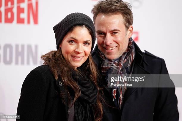 Marco Girnth and Katja Woywood attend the German premiere of 'Die Hard Ein Guter Tag Zum Sterben' at the cinestar Potsdamer Platz on February 4 2013...
