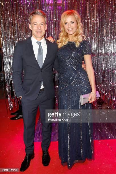 Marco Girnth and Melanie Marschke attend the Ein Herz Fuer Kinder Gala reception at Studio Berlin Adlershof on December 9 2017 in Berlin Germany