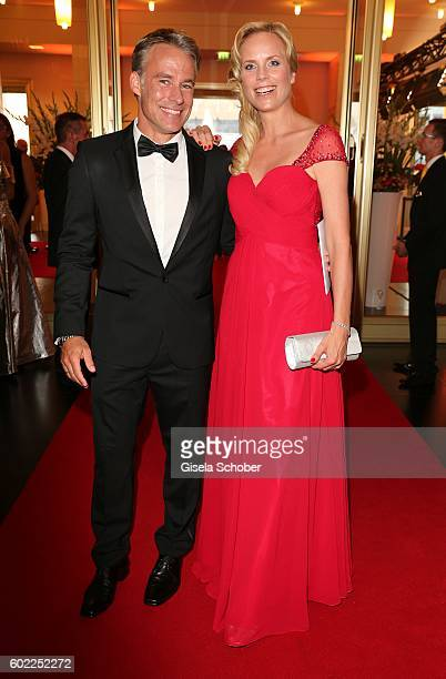 Marco Girnth and Melanie Marschke during the Leipzig Opera Ball 'Let's dance Dutch' at alte Oper on September 10 2016 in Leipzig Germany