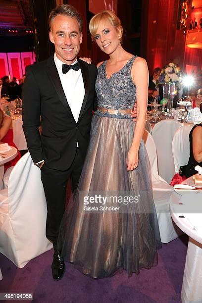 Marco Girnth and Melanie Marschke SOKO during the Leipzig Opera Ball 2015 on October 31 2015 in Leipzig Germany