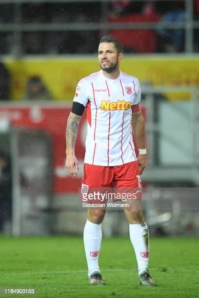 Marco Gruettner of Regensburg looks on during the Second Bundesliga match between SSV Jahn Regensburg and VfL Osnabrück at Continental Arena on...