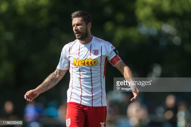 Marco Gruettner of SSV Jahn Regensburg gestures during the pre-season friendly match between TSG Hoffenheim and SSV Jahn Regensburg on July 17, 2019...