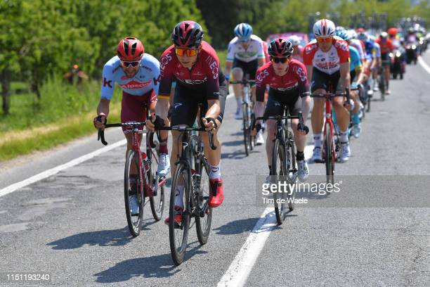 Marco Haller of Austria and Team Katusha Alpecin / Christian Knees of Germany and Team INEOS / Eddie Dunbar of Ireland and Team INEOS / Roger Kluge...