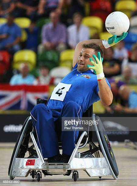 Marco Iannuzzi of Italy in action during the Wheelchair Rugby match against New Zealand during day 2 of the Invictus Games presented by Jaguar Land...