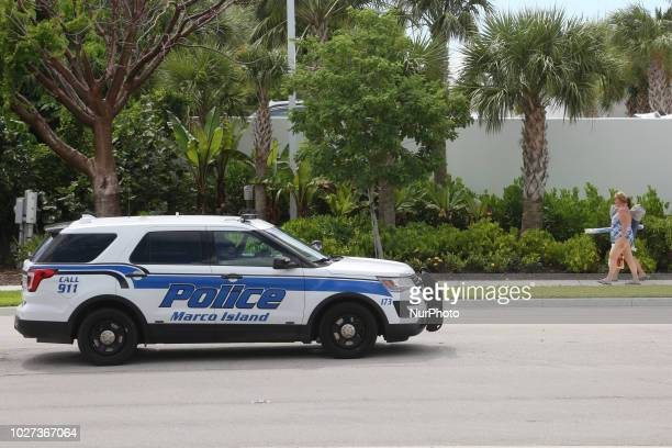 Marco Island Police vehicle seen just after an amber alert was posted for a 2 year old child that was kidnapped on Marco Island Florida USA on...