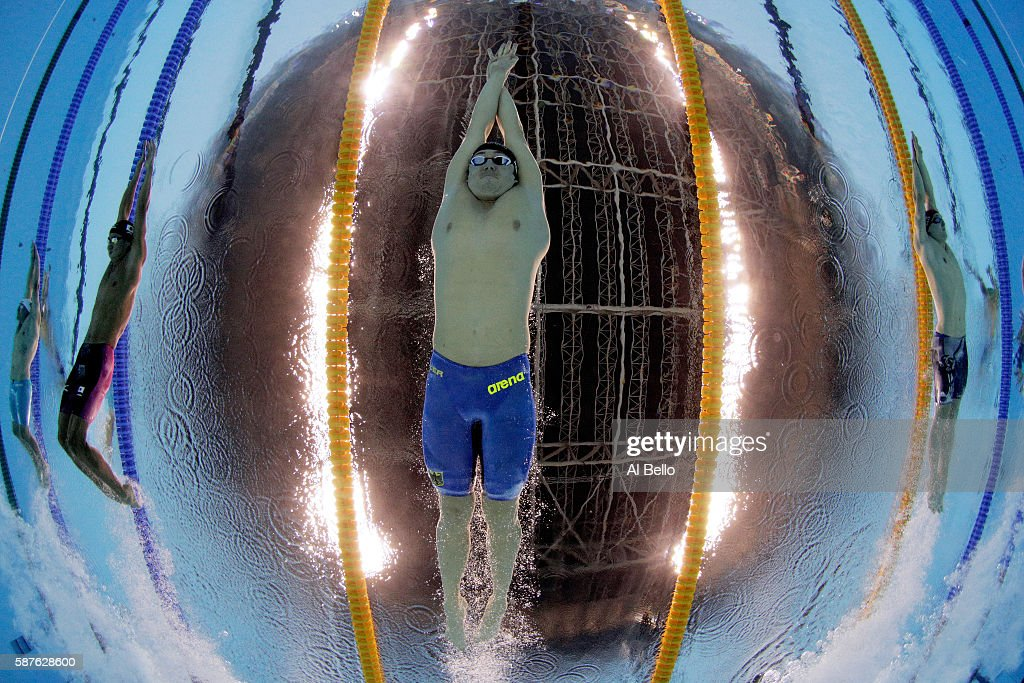 Marco Koch of Germany competes in the Men's 200m Breaststroke heat on Day 4 of the Rio 2016 Olympic Games at the Olympic Aquatics Stadium on August 9, 2016 in Rio de Janeiro, Brazil.