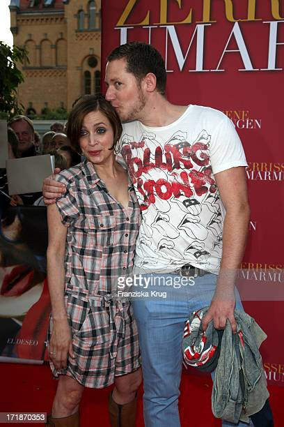 """Marco Kreuzpaintner And Anna Thalbach at the Premiere Of """"Broken Embraces"""" in the movie In The Culture brewery in Berlin"""