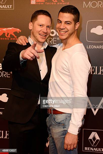 Marco Kreuzpaintner and his partner Gilardi attend Leonardo at the New Faces Award Film 2014 at eWerk on May 8 2014 in Berlin Germany