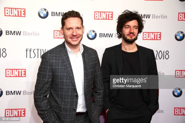 Marco Kreuzpaintner and Manuel Mairhofer attend the BUNTE BMW Festival Night on the occasion of the 68th Berlinale International Film Festival Berlin...