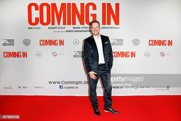 Marco Kreuzpaintner attends the 'Coming In' Premiere in Berlin on October 22 2014 in Berlin Germany
