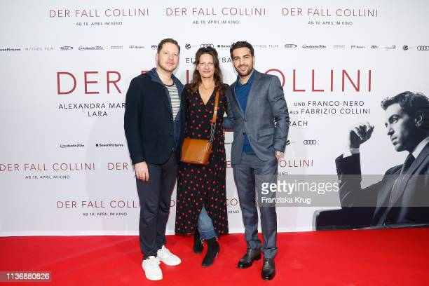 Marco Kreuzpaintner Catrin Striebeck and Elyas M'Barek during the Der Fall Collini premiere at Astor Filmlounge Hafen City on April 13 2019 in...