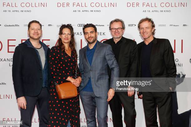 Marco Kreuzpaintner Catrin Striebeck Elyas M'Barek Marcel Hartges and Christoph Mueller during the Der Fall Collini premiere at Astor Filmlounge...