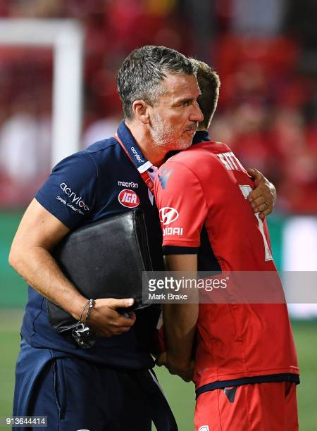 Marco Kurz coach of Adelaide United at the end of the match during the round 19 ALeague match between Adelaide United and the Perth Glory at Coopers...