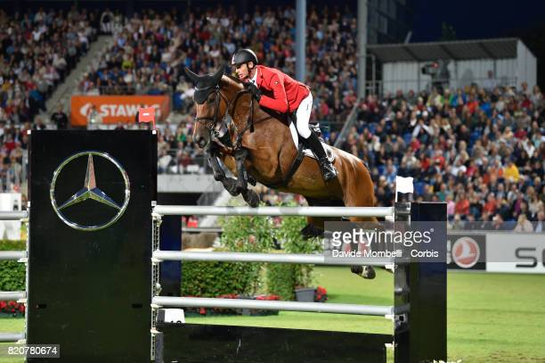 Marco Kutscher of Germany riding CLENUR during CHIO MercedesBenz Nations Cup on July 20 2017 in Aachen Germany
