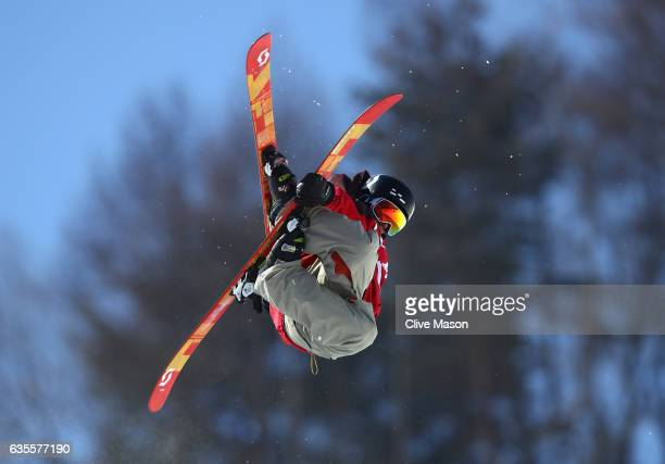 Marco Ladner of Austria in action during the FIS Freestyle World Cup Ski Halfpipe Qualification at Bokwang Snow Park on February 16 2017 in...