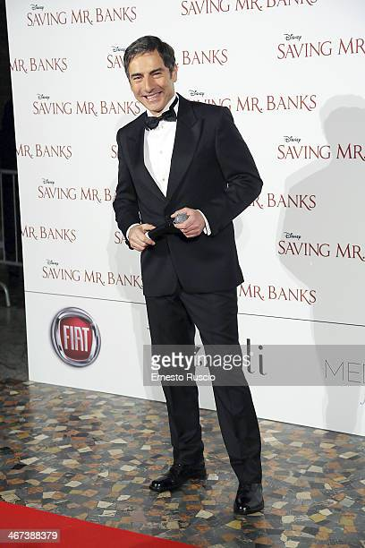 Marco Liorni attends the 'Saving Mr Banks' premiere at The Space Moderno on February 6 2014 in Rome Italy