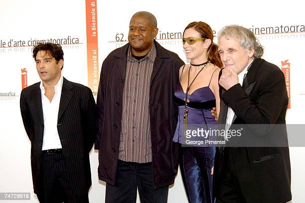 Marco Lombardi Forest Whitaker Stefania Rocca and Abel Ferrara in Venice Italy