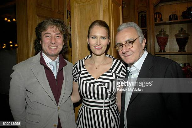 Marco Maccioni Gwenaelle Gueguen and Alain Ducasse attend Benoit Opening Party Hosted by Pamela Fiori and Alain Ducasse at Benoit Restaurant on April...
